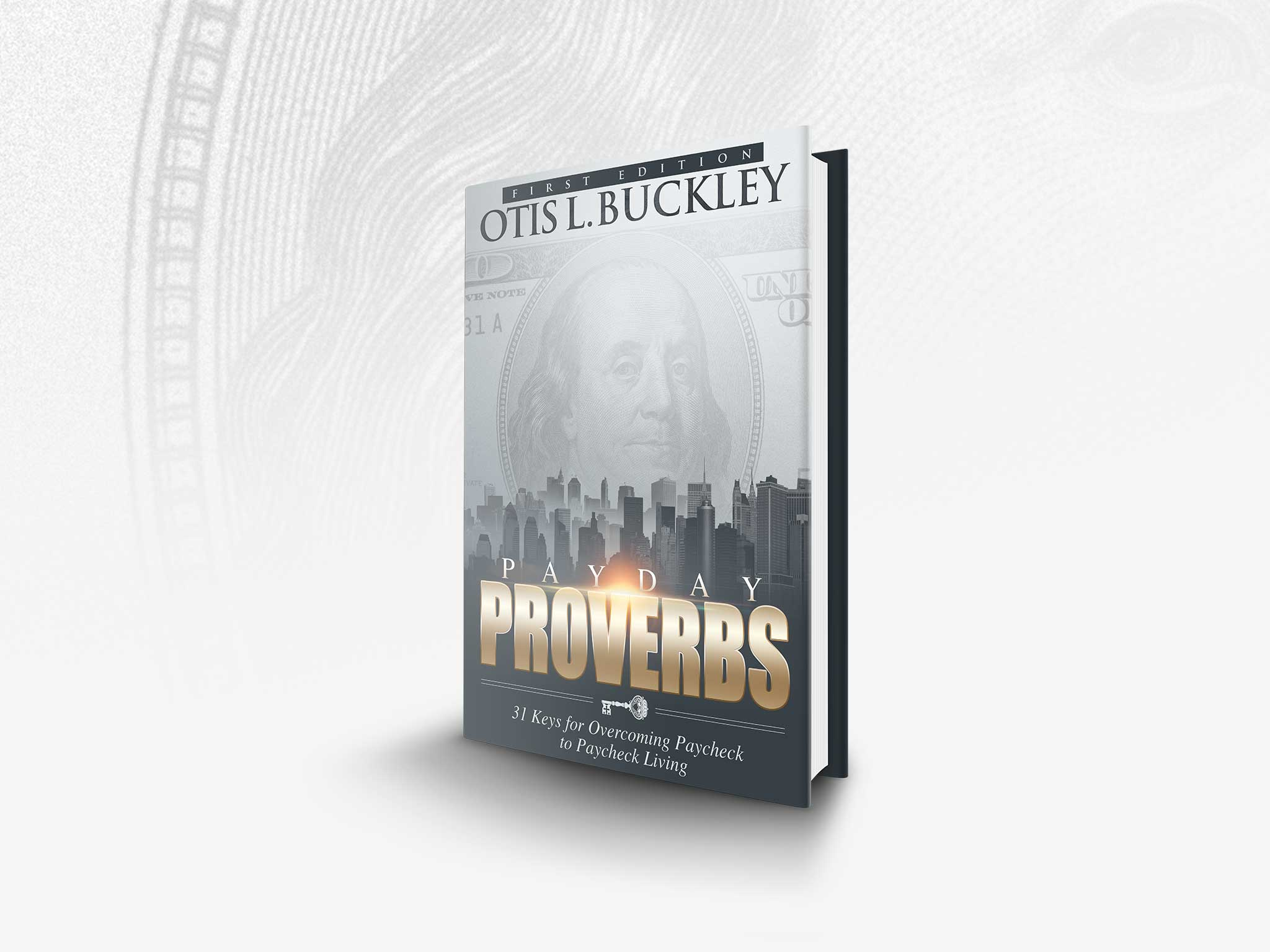 OL Buckley's Payday Proverbs Hardcover Book Mockup
