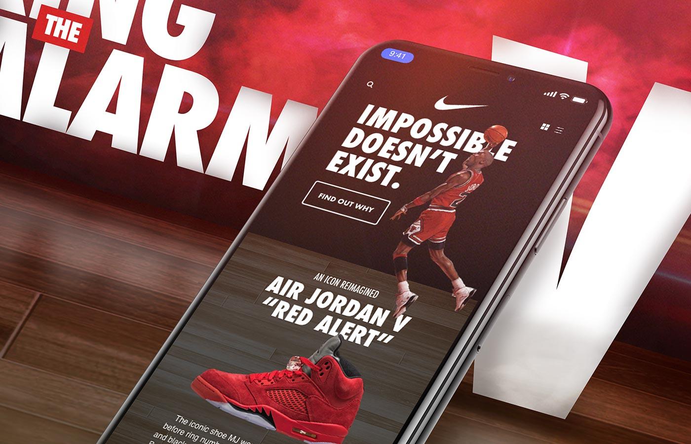 Nike SNKRS App UI Redesign Mockup in iPhone X