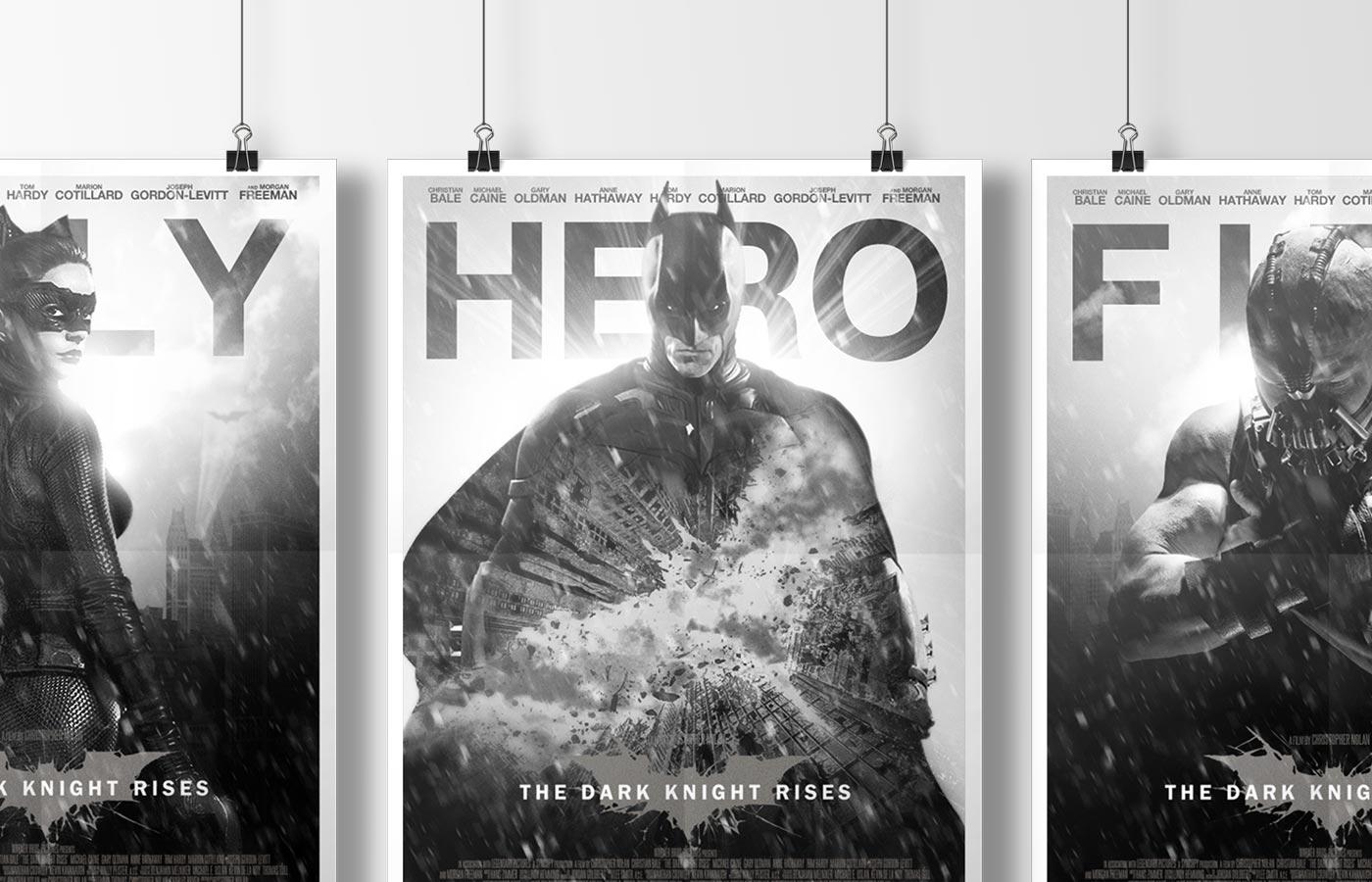 The Dark Knight Rises - Theater Key Art Hanging Mockup