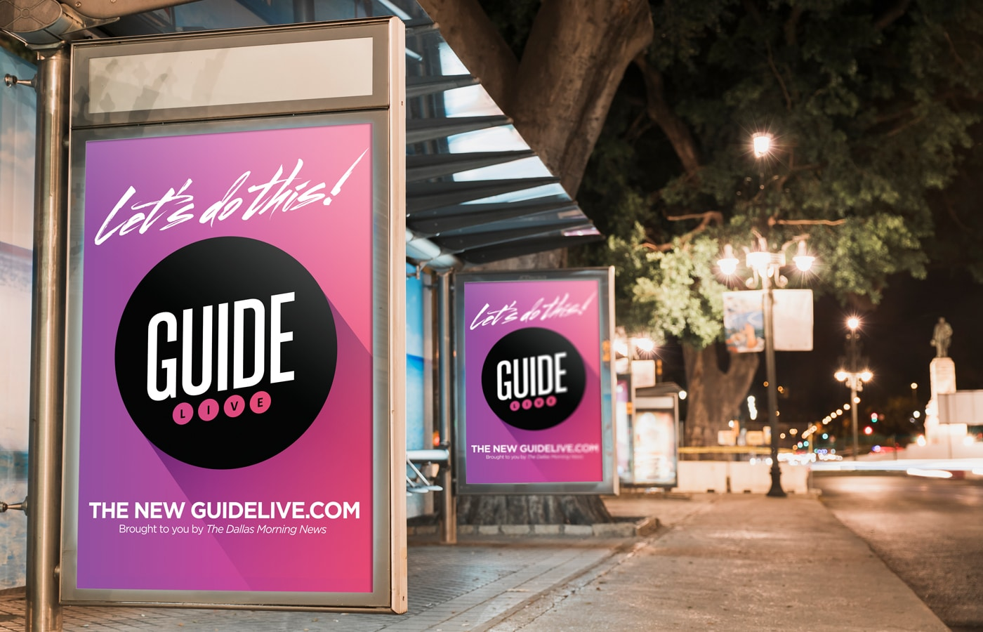 The Dallas Morning News - Guide Live Bus Shelter Poster